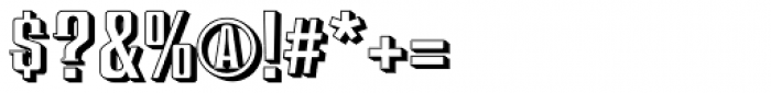 Redeye Serif Shadow Font OTHER CHARS
