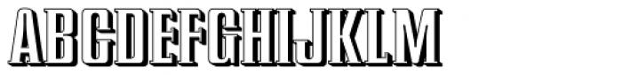 Redeye Serif Shadow Font UPPERCASE
