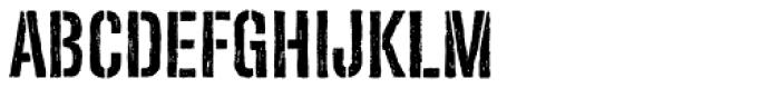 Redgar Stencil Font UPPERCASE