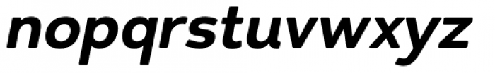 Redshift Extra Bold Oblique Font LOWERCASE