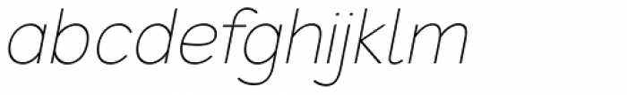 Redshift Extra Light Oblique Font LOWERCASE