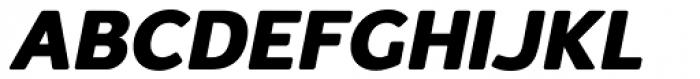Redshift Heavy Oblique Font UPPERCASE