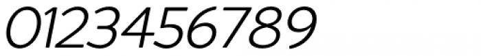 Redshift Light Oblique Font OTHER CHARS