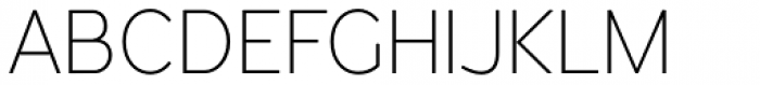 Redshift Thin Font UPPERCASE