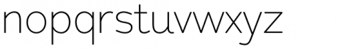 Redshift Thin Font LOWERCASE