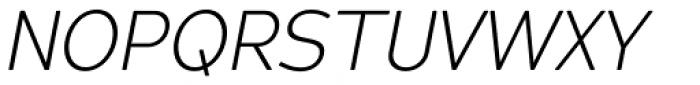 Redshift Ultra Light Oblique Font UPPERCASE