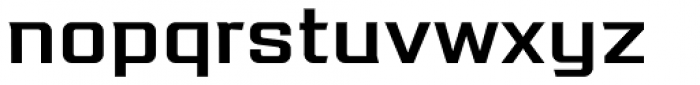 Redzone Medium SemiExtd Font LOWERCASE