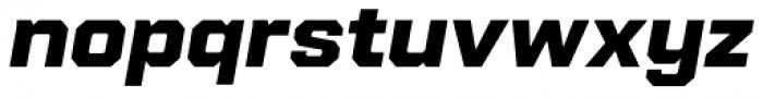 Refinery 75 Black Italic Font LOWERCASE
