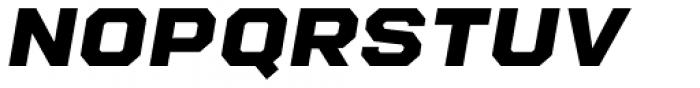 Refinery 95 Black Italic Font UPPERCASE