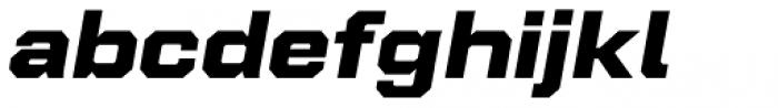 Refinery 95 Black Italic Font LOWERCASE
