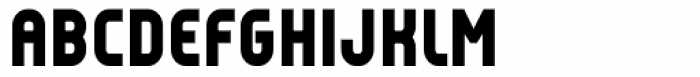 Reflex Black Font UPPERCASE