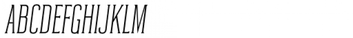 Reformer Serif Semi Light Italic Font UPPERCASE