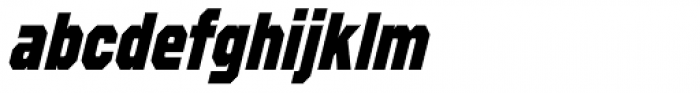 Refuel Condensed ExtraBold Italic Font LOWERCASE