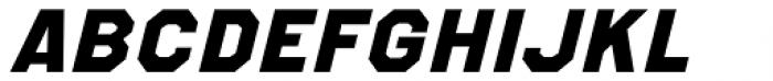 Refuel Expanded ExtraBold Italic Font UPPERCASE