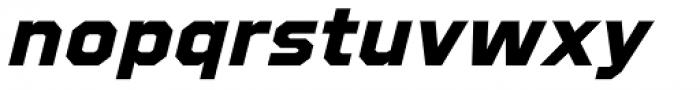 Refuel Expanded ExtraBold Italic Font LOWERCASE
