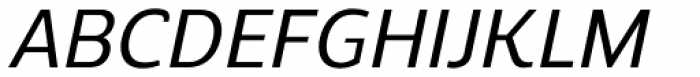 Regan Alt Medium Italic Font UPPERCASE