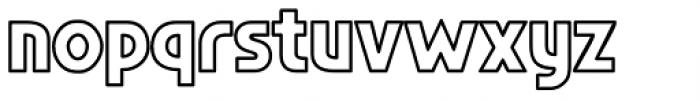 Regeneration Outline Font LOWERCASE