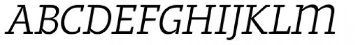 Regime Italic Font UPPERCASE