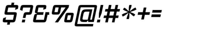 Register Medium Italic Font OTHER CHARS