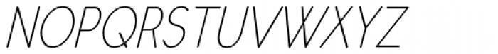 Register Sans BTN Cond Light Oblique Font UPPERCASE