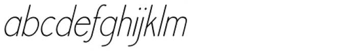 Register Sans BTN Cond Light Oblique Font LOWERCASE