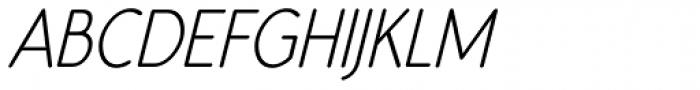 Register Sans BTN Cond Oblique Font UPPERCASE