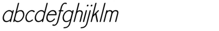 Register Sans BTN Cond Oblique Font LOWERCASE