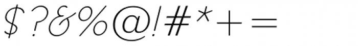 Register Sans BTN Light Oblique Font OTHER CHARS