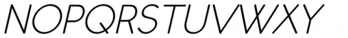 Register Sans BTN Oblique Font UPPERCASE