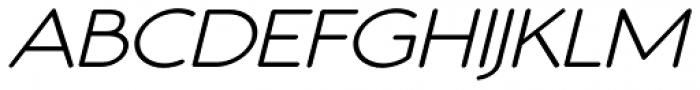 Register Sans BTN Wide Oblique Font UPPERCASE