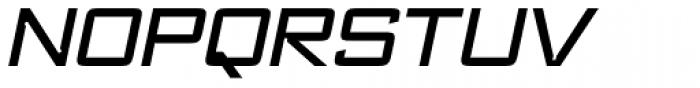 Register Wide Medium Italic Font UPPERCASE