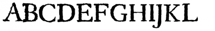 Regula Old Face Font UPPERCASE