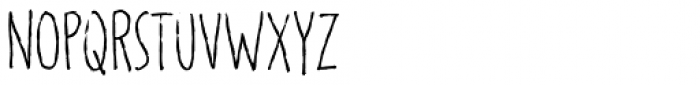Regular Font LOWERCASE