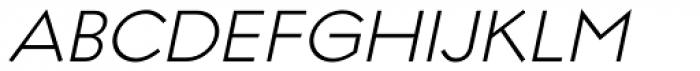 Regulator Light Italic Font UPPERCASE