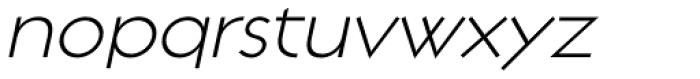 Regulator Light Italic Font LOWERCASE
