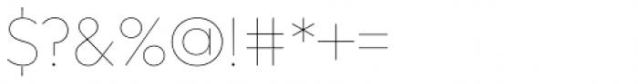 Regulator Nova Thin Font OTHER CHARS