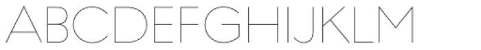 Regulator Nova Thin Font UPPERCASE