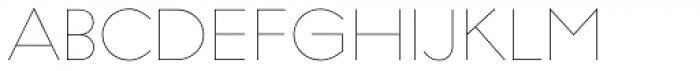 Regulator Thin Font UPPERCASE