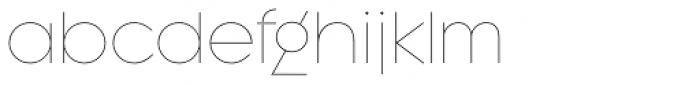 Regulator Thin Font LOWERCASE