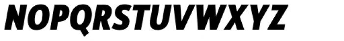 Rehn Condensed ExtraBold Italic Font UPPERCASE