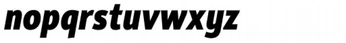 Rehn Condensed ExtraBold Italic Font LOWERCASE