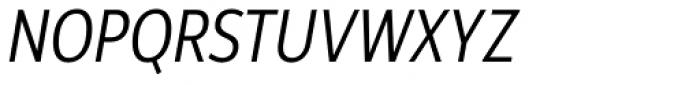 Rehn Condensed Light Italic Font UPPERCASE