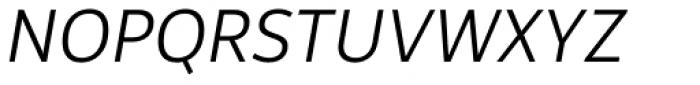 Rehn Light Italic Font UPPERCASE