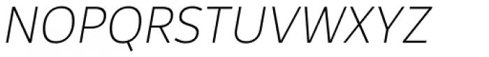 Rehn Thin Italic Font UPPERCASE