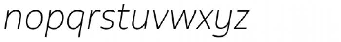 Rehn Thin Italic Font LOWERCASE