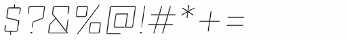 Reileta Extra Light Italic Font OTHER CHARS