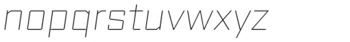 Reileta Extra Light Italic Font LOWERCASE