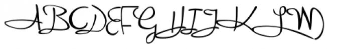 Reinert Upright Font UPPERCASE