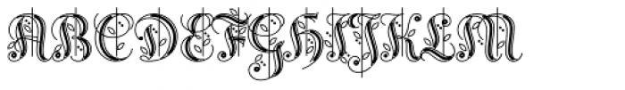 Reinstaedt 1430 Initials Font UPPERCASE