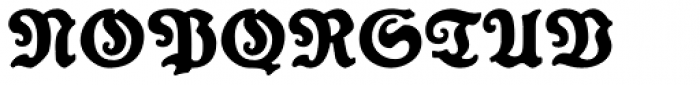 Reklamefraktur Font UPPERCASE